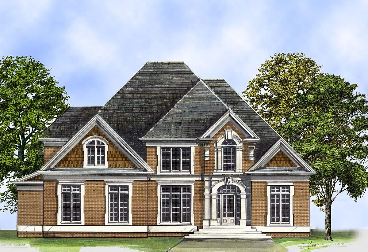 Colonial European Greek Revival House Plan 72205 Elevation