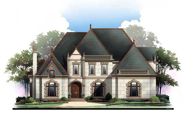 European Greek Revival House Plan 72209 Elevation