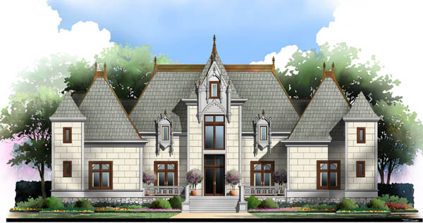 European, Greek Revival House Plan 72212 with 4 Beds, 5 Baths, 3 Car Garage Elevation