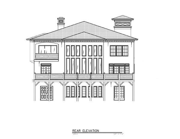 Greek Revival House Plan 72218 Rear Elevation