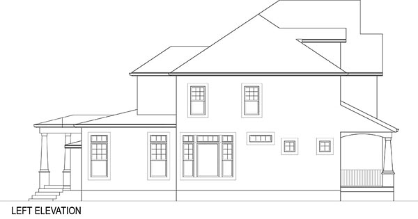Cottage Farmhouse French Country House Plan 72219
