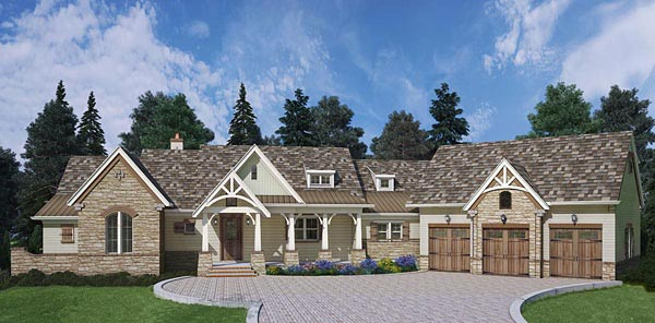 Craftsman European Traditional House Plan 72221 Elevation
