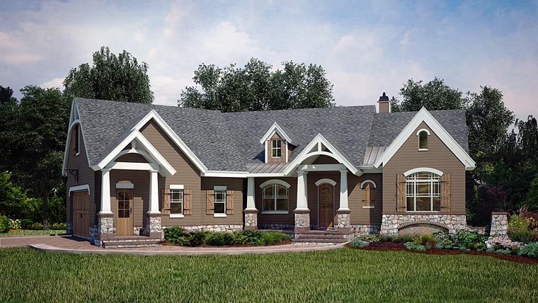 Craftsman Tudor House Plan 72222 Elevation