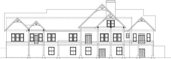 Craftsman Tudor House Plan 72225 Rear Elevation