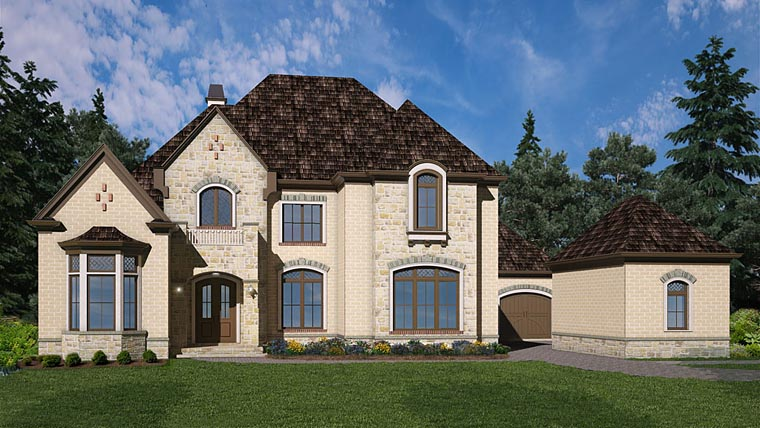 European House Plan 72227 Elevation