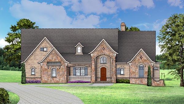 European Traditional House Plan 72246