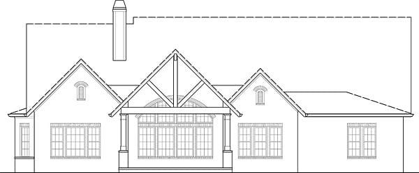 European Traditional House Plan 72246 Rear Elevation