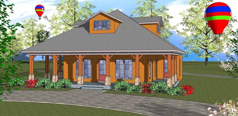 Cottage Florida Southern House Plan 72314 Elevation