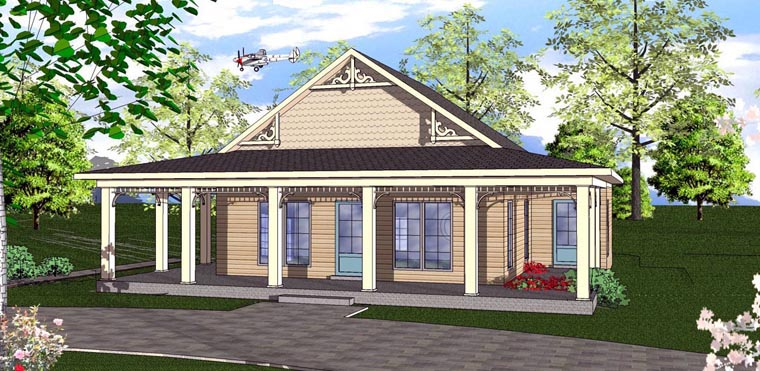 Cottage Florida Southern House Plan 72320 Elevation
