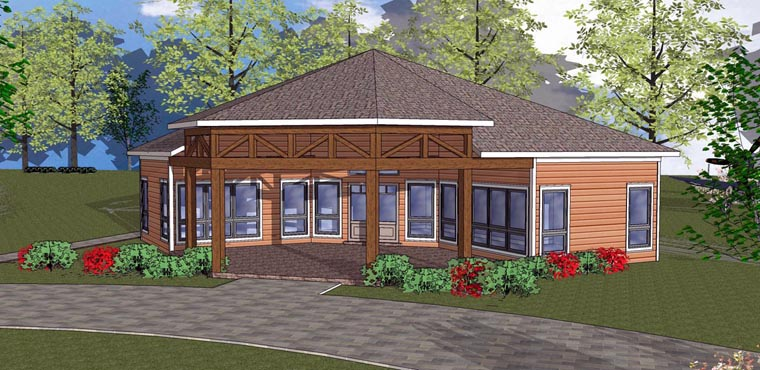 Cabin Cottage Southern House Plan 72334 Elevation