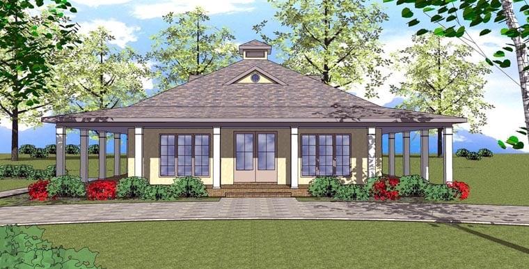 Cottage Florida Southern House Plan 72359 Elevation