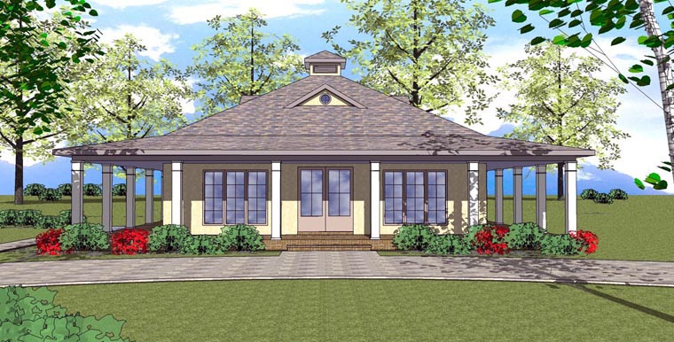 Cottage Florida Southern House Plan 72364 Elevation