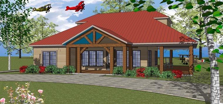 Coastal, Southern House Plan 72370 with 3 Beds, 3 Baths Elevation