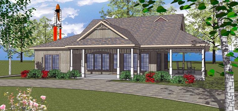 House Plan 72371 Elevation