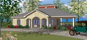 Coastal , Southern House Plan 72372 with 3 Beds, 3 Baths Elevation