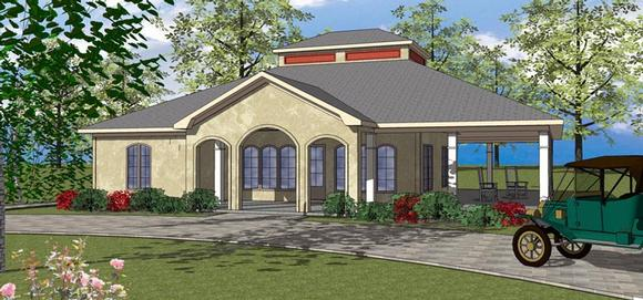 Coastal, Southern House Plan 72372 with 3 Beds, 3 Baths Elevation