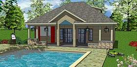 Plan Number 72374 - 701 Square Feet