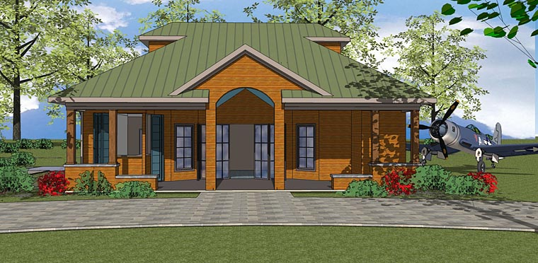 Contemporary House Plan 72377 Elevation
