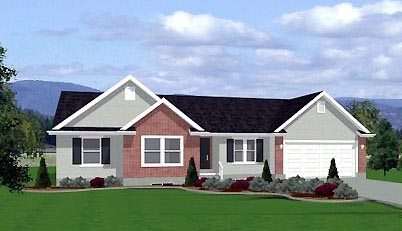 Traditional House Plan 72414 with 3 Beds, 2 Baths, 3 Car Garage Elevation
