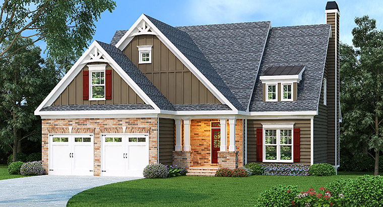 House Plan 72502 Elevation