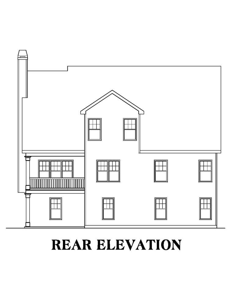 House Plan 72502 Rear Elevation