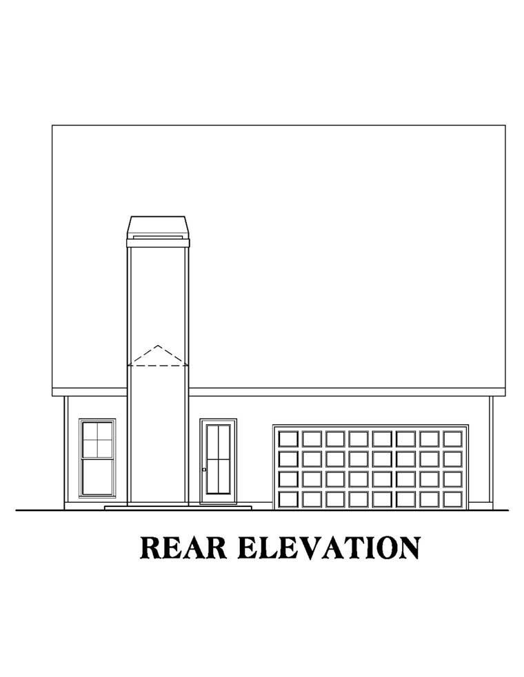 House Plan 72504 Rear Elevation