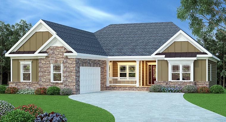 Ranch House Plan 72514 Elevation