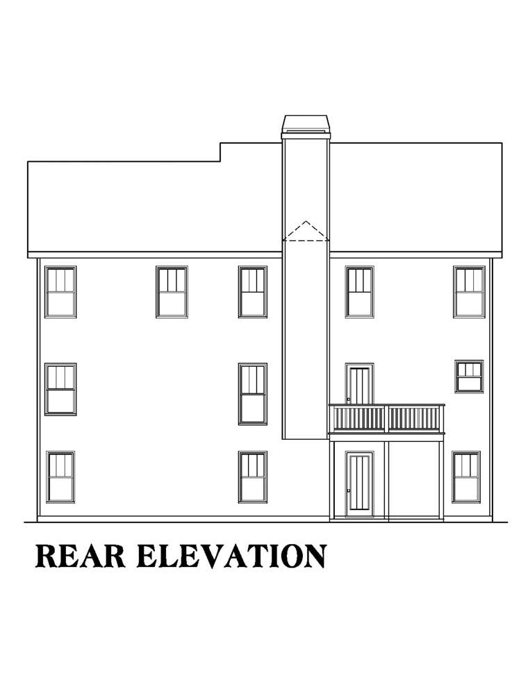 House Plan 72515 Rear Elevation