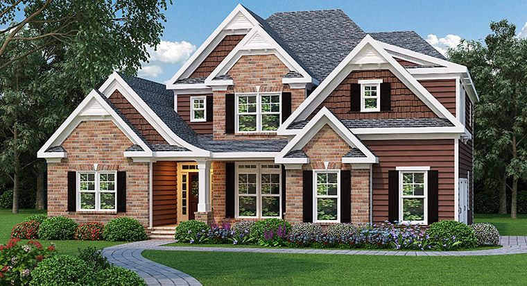 House Plan 72517 with 3 Beds, 3 Baths, 2 Car Garage Elevation