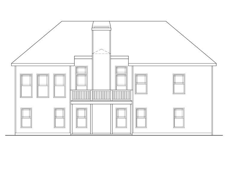Ranch House Plan 72526 Rear Elevation