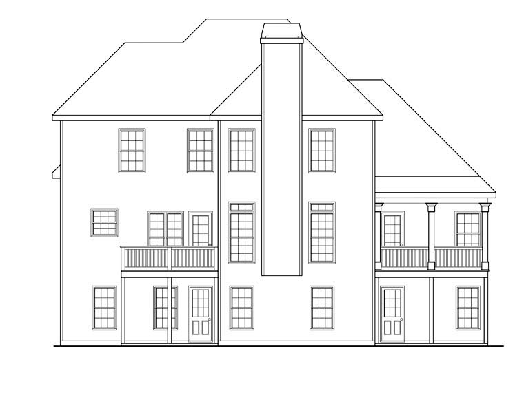 House Plan 72531 Rear Elevation