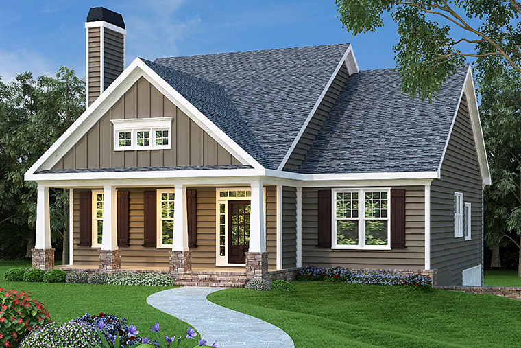 House Plan 72536 Elevation