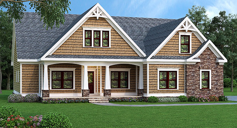 Ranch House Plan 72537 Elevation