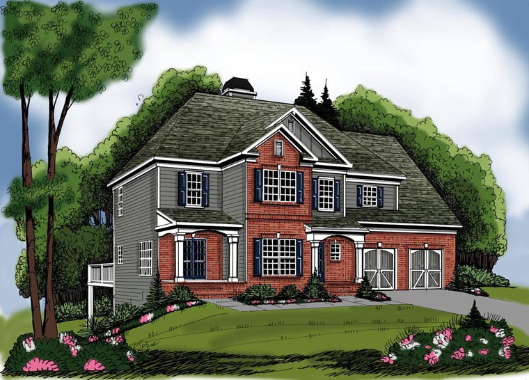 House Plan 72546 Elevation