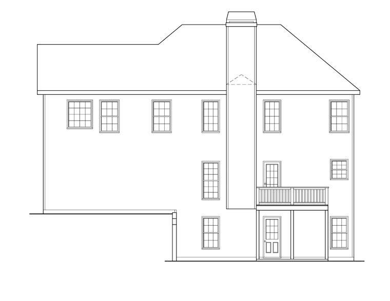 House Plan 72546 Rear Elevation