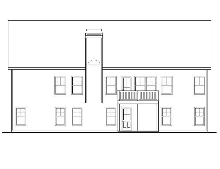 Ranch House Plan 72555 Rear Elevation
