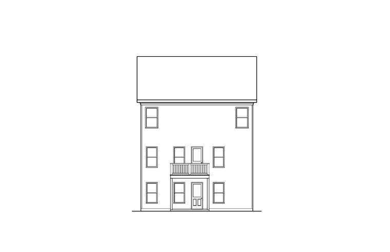 House Plan 72562 Rear Elevation