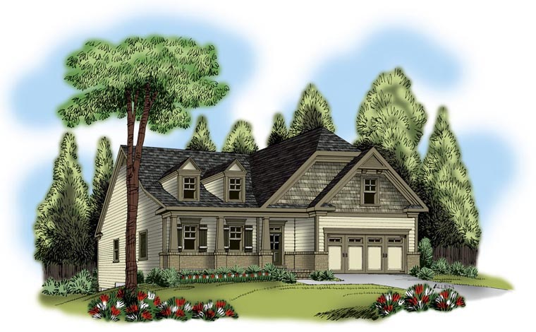 Ranch House Plan 72566 Elevation