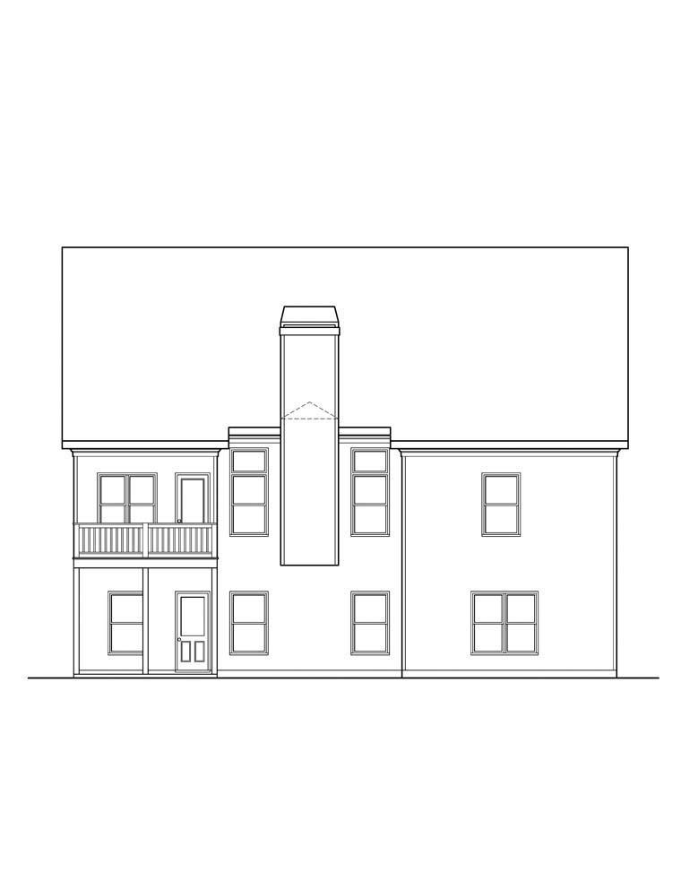 Ranch House Plan 72566 Rear Elevation