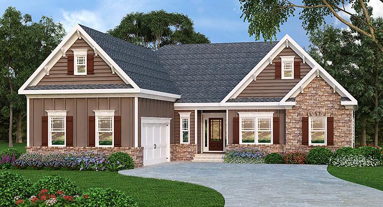 Ranch House Plan 72582