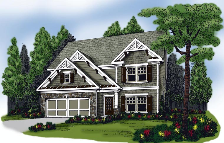 House Plan 72584 Elevation