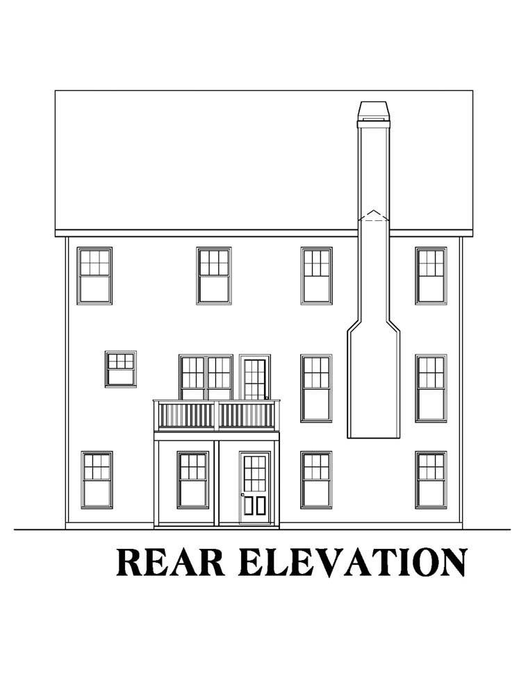 House Plan 72584 Rear Elevation