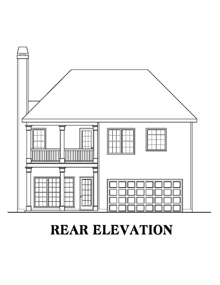 House Plan 72593 Rear Elevation