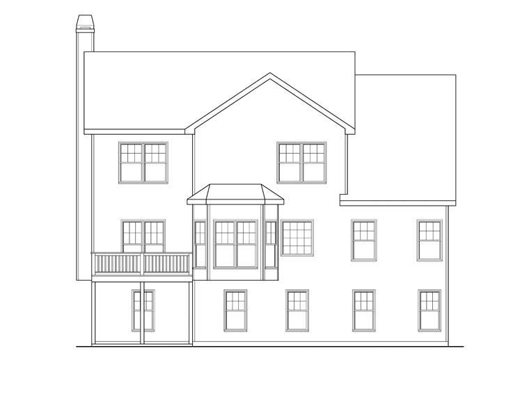 House Plan 72602 Rear Elevation