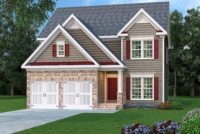 House Plan 72629 Elevation