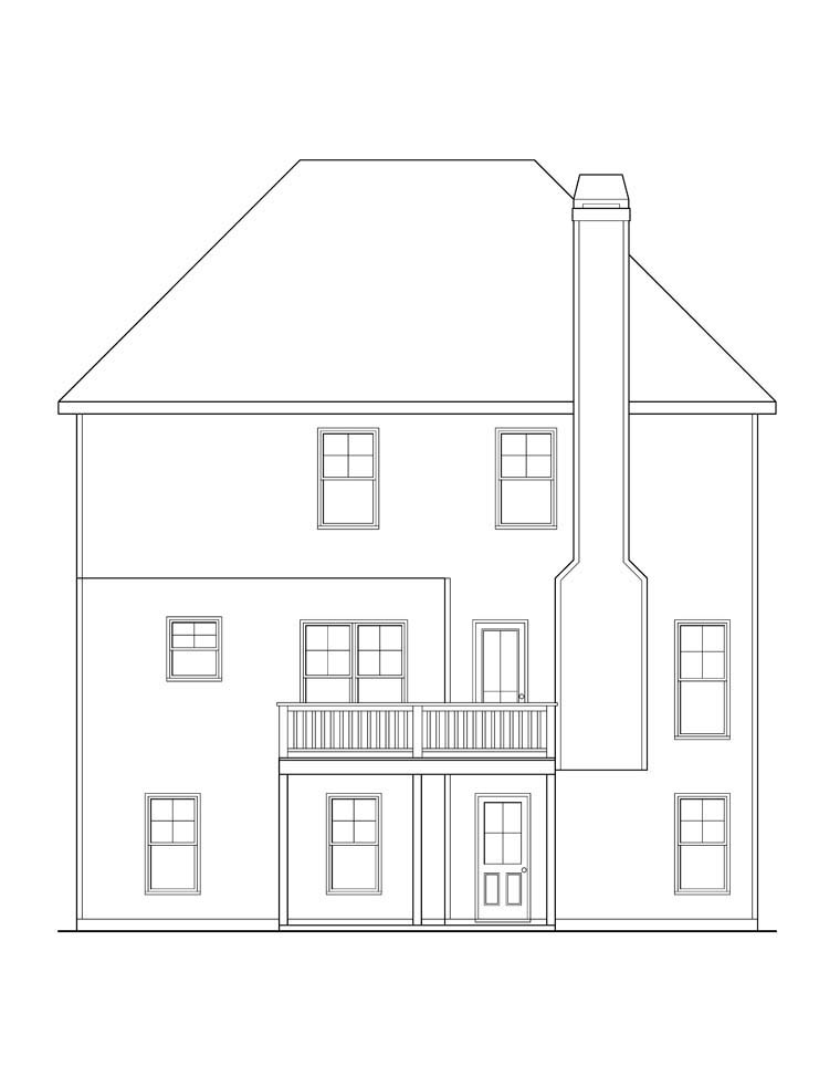 House Plan 72641 Rear Elevation