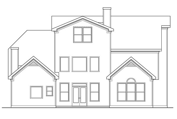 Traditional House Plan 72673 with 4 Beds, 6 Baths, 3 Car Garage Rear Elevation