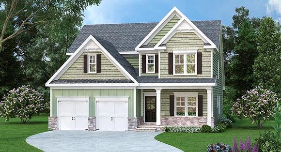 Traditional House Plan 72675 with 4 Beds, 3 Baths, 2 Car Garage Elevation
