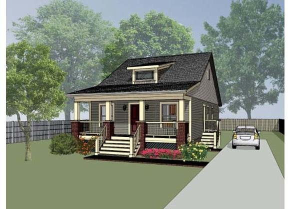 Bungalow, Cottage, Craftsman House Plan 72709 with 3 Beds, 2 Baths Elevation