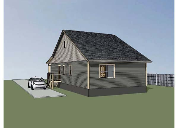 Bungalow, Cottage, Craftsman House Plan 72709 with 3 Beds, 2 Baths Rear Elevation